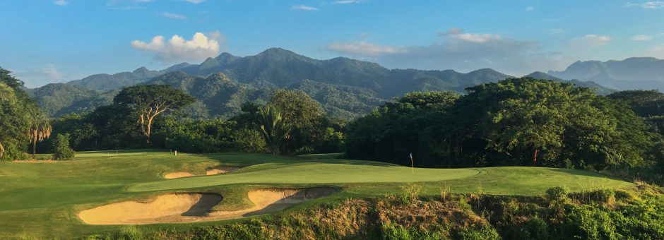 Spectacular views -- 9th green on the Vista Vallarta Nicklaus Course...