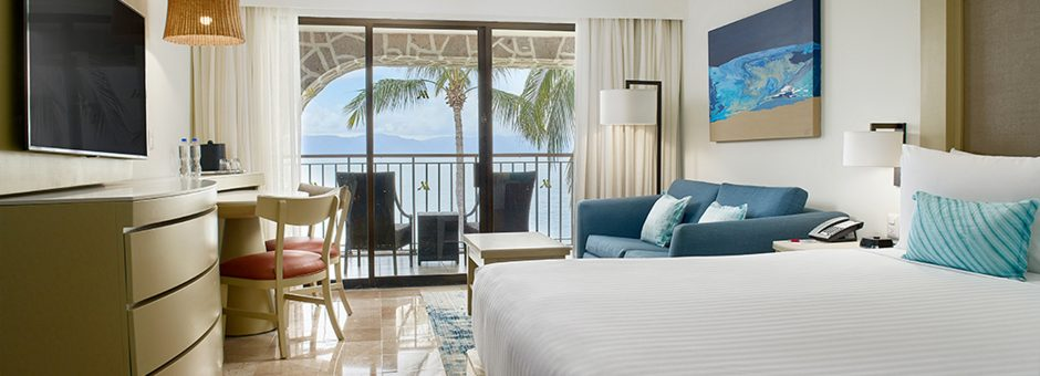 Enjoy deluxe accommodations at the Marriott Puerto Vallarta Resort & Spa...
