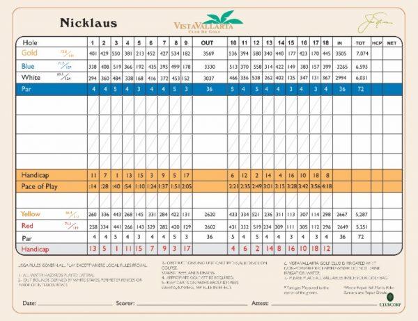nicklaus scorecard